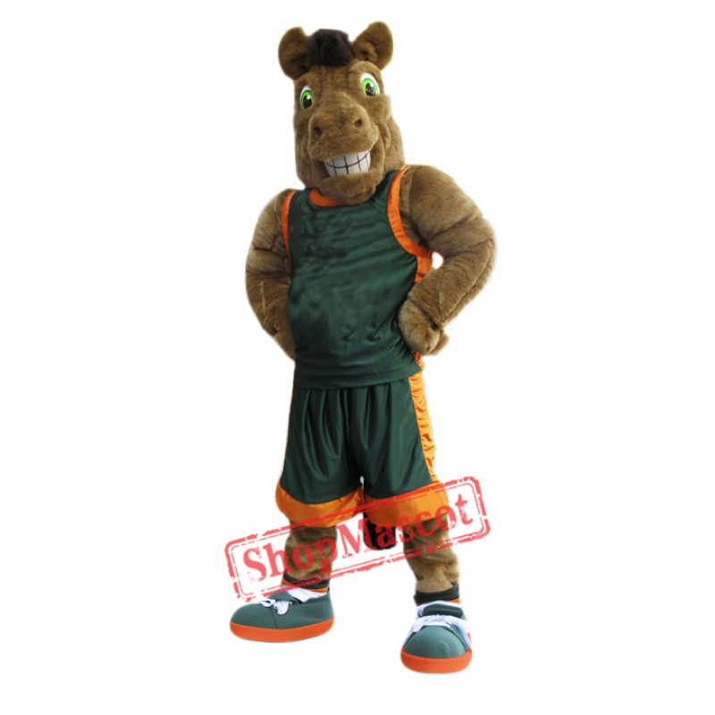 Sport Brown Horse Mascot Costume