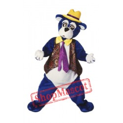 High Quality Blue Bear Mascot Costume