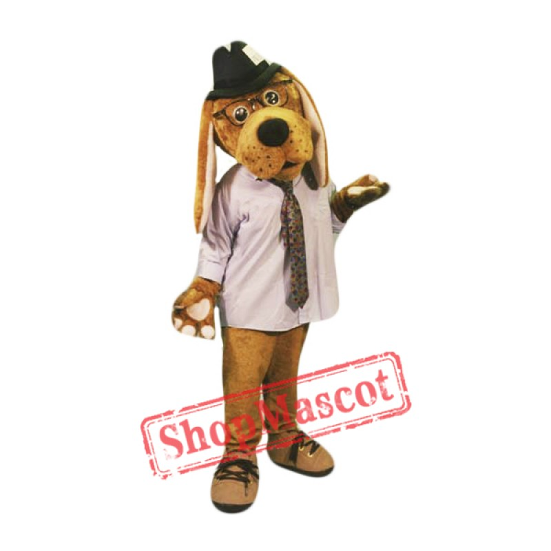 High Quality Brown Dog Mascot Costume