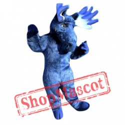 Blue Moose Mascot Costume