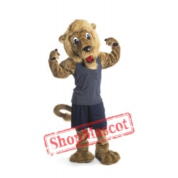 College Happy Lion Mascot Costume
