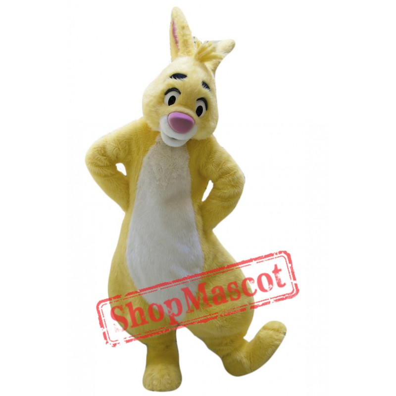 Cute Yellow Rabbit Mascot Costume