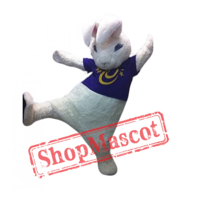 High Quality White Rabbit Mascot Costume