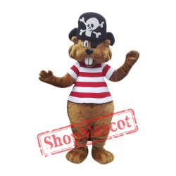 Pirate Beaver Mascot Costume