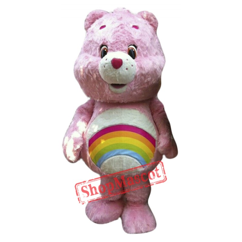 Cute Pink Female Bear Mascot Costume