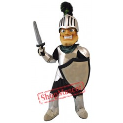 Smiling Knight Mascot Costume
