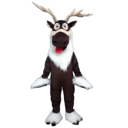 Brown reindeer Christmas reindeer Mascot Costume