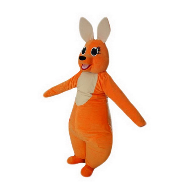 Orange Kangaroo Mascot Costume