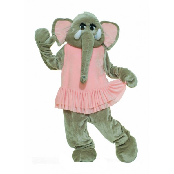 Pink Dress Elephant Mascot Costumes