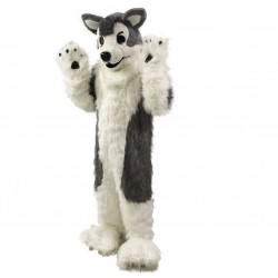 Gray Wolf Husky Dog Mascot Costumes