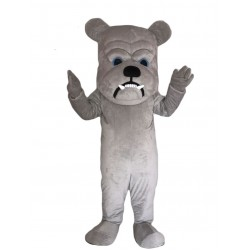 Grey Bulldog Lightweight Mascot Costume Free Shipping