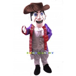 Patriot Mascot Costume Gray Hat Free Shipping
