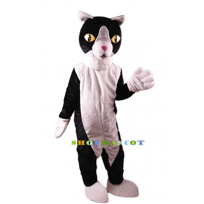Black and White Cat Lightweight Mascot Costume
