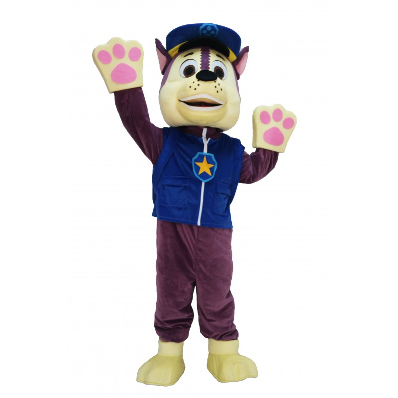 Blue Paw Patrol Chase Cartoon Mascot Costume