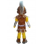 Brown & Yellow Spartan Trojan Knight Sparty Mascot Costume