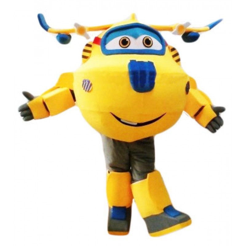 Super Wings Cartoon Cute Donnie Mascot Costume