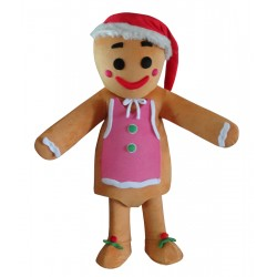 Gingerbread Men Mascot Costume