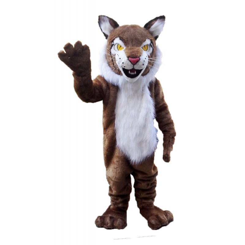 Brown Wildcat Bobcat Mascot Costume