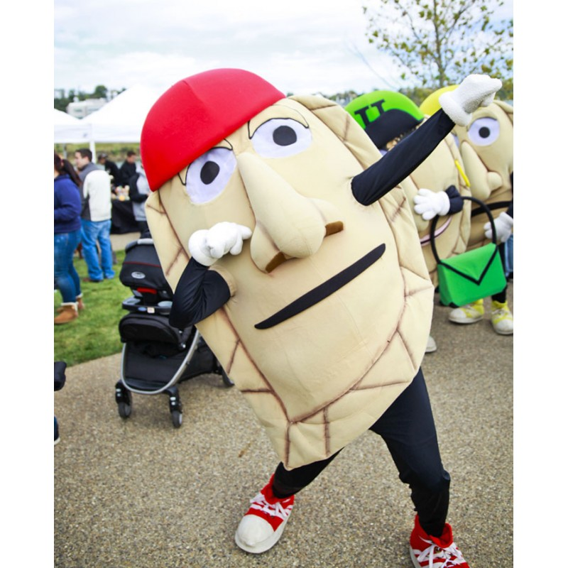 Pierogi Mascot Costume Pirates Food Advertising Restaurant Costume