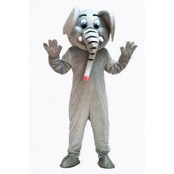 Gray Cute Elephant Mascot Costume on Clearance