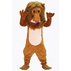 Brown Cute Lion Mascot Costume on Clearance