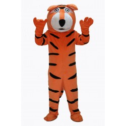 Cute Orange Tiger Mascot Costume on Clearance