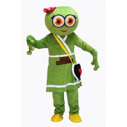 Cute Female Green Frog Mascot Costume on Clearance