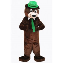 Cute Yoga Bear Mascot Costume on Clearance