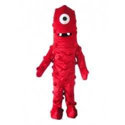 Red Monster One Eye Demon Mascot Costume Free Shipping
