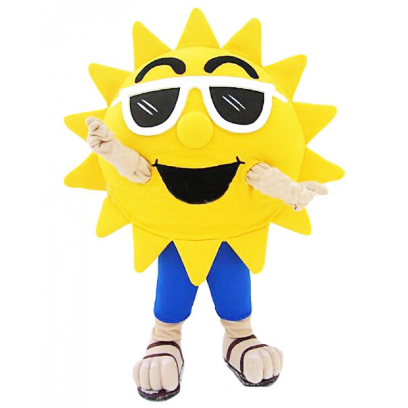 Sunglasses Sun Beach Sunshire Mascot Costume Free Shipping