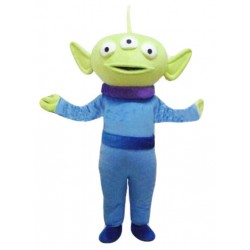 Extraterrestrial Alien Three Eyes Demon Mascot Costume Free Shipping