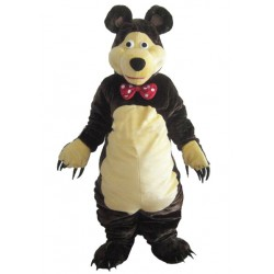 Gentle Brown Bear Mascot Costume Free Shipping