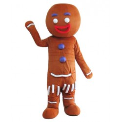 Brown Doll Cookie Mascot Costume Free Shipping