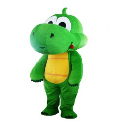 Cute Bulk Grass Green Dragon Mascot Costume Free Shipping