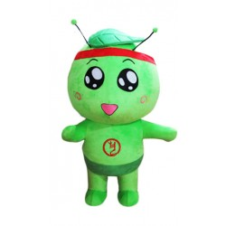 Cartoon Character Green Leaf Mascot Costume Free Shipping