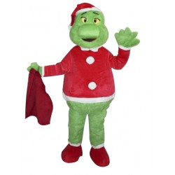Christmas Cartoon Character Grinch Mascot Costume