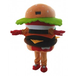 Hamburger Mascot Costume Advertising Restaurant Costume