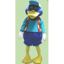 Cute Blue Duck Mascot Costume