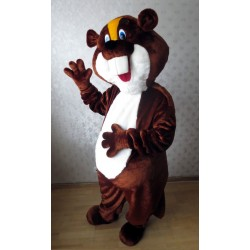Cute Brown and White Beaver Mascot Costume