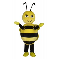 Cute Yellow alternate White Little Bee Mascot Costume