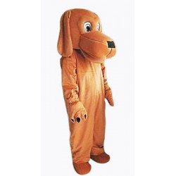 Loyal and Tame Brown Dog Mascot Costume