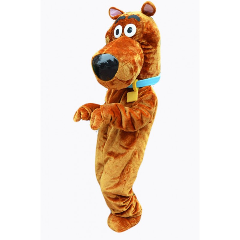 Cute  Brown Scooby Doo Dog Mascot Costume