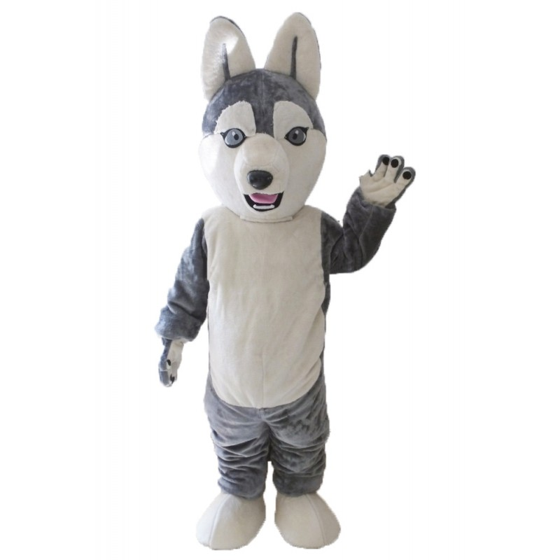 Animal Costume Dog Siberian Husky Mascot Costume for Adult