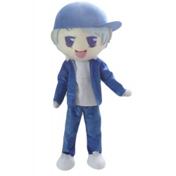 Halloween Blue Cloth Young Boy Mascot Costume for Adult