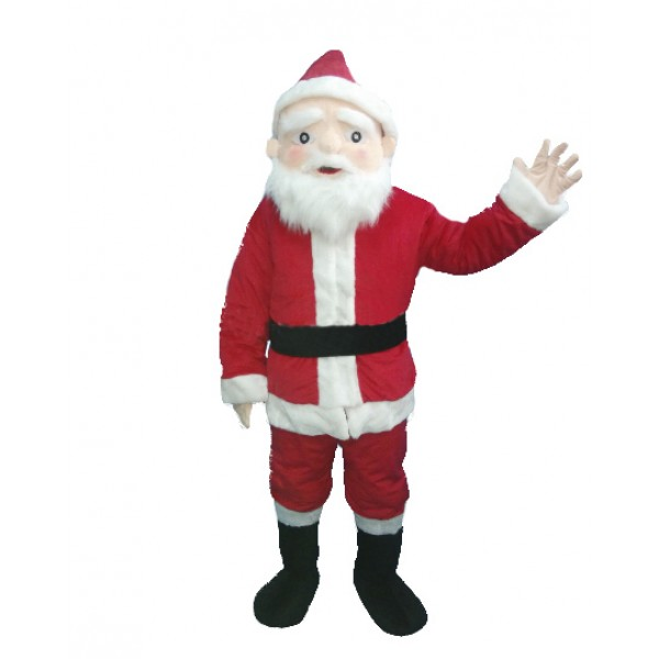 White Mustache Christmas Santa Claus Mascot Costume for Adult