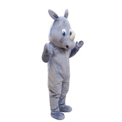 Cute Animal Gray Hippo Mascot Costume for Adult Free Shipping