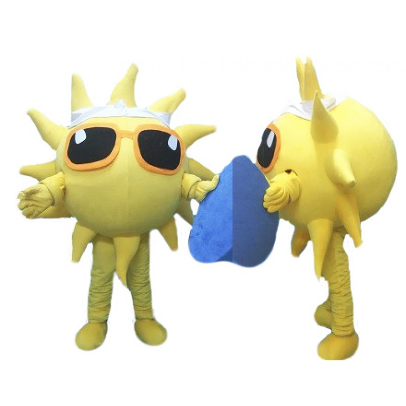 Glasses Sun Mascot Costume Sunshine Costume for Adult Free Shipping