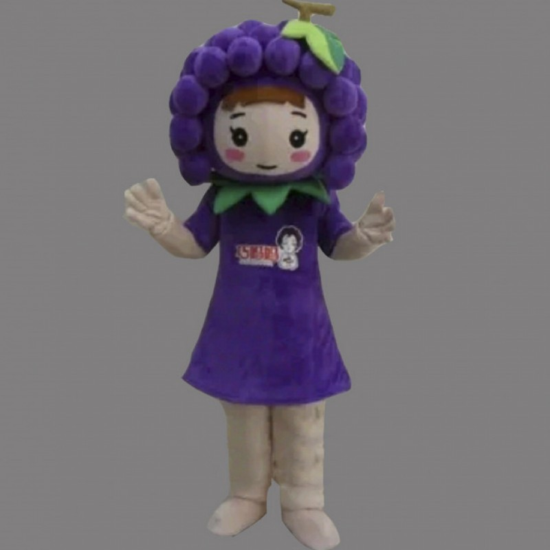 Purple Grape Mascot Costume Vegetable Costume for Adult