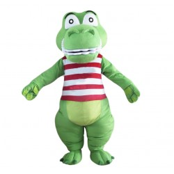 Green Cute Crocodile Mascot Costume Alligator Costume for Adult