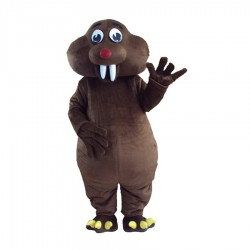 Short Fur Brown Mole Mouse Mascot Costume Free Shipping